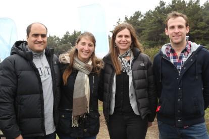 Alberto Raffo, Paloma Prudot, Francisca Ojeda y Nicolás Eyzaguirre