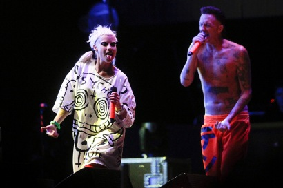 Lollapalooza 2016 Parque O´Higgins, Santiago, Chile. Escenario: Acer Windows Stage Banda: Die Antwoord (Claudio Reyes/Getty Images/Lotus Producciones)