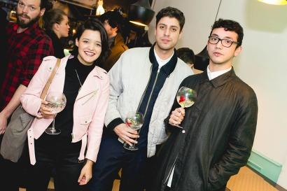 Camila Galarce, Sebastian Aguilar y Jose Jara